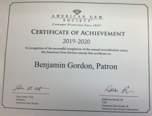 Houston Jewelry Appraiser - Jewelry Judge Ben Gordon - AGS Certification